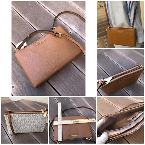 54a8ecbb8b28 NWT Michael Kors double gusset crossbody handbag